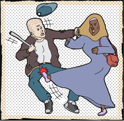 Muslim Woman Self-Defense
