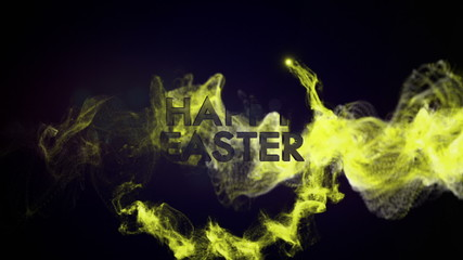 Happy Easter Text in Particles