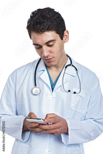 doctor with a smart phone