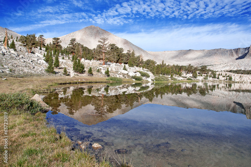 Mountain Reflection in lake, Eastern Sierra California