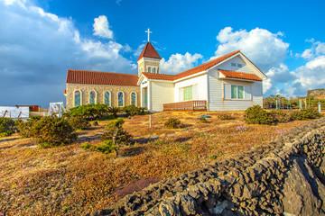 Church in Seopjikoji Mount Jeju Island , South Korea