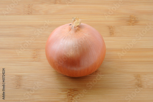 onion isolated on cutting board