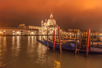 Venice and Santa Maria della Salute Church Italy