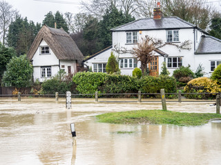 Floods - Clavering Cambridshire England UK
