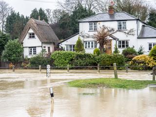 Floods - Clavering Cambridshire England UK