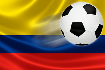 Soccer Ball Leaps Out of Colombia's Flag