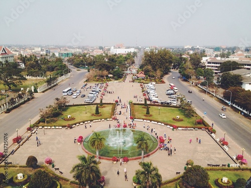 airview from Triumphal arch in Vientiane