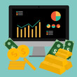 Vector of Finance.Gold,coin,money