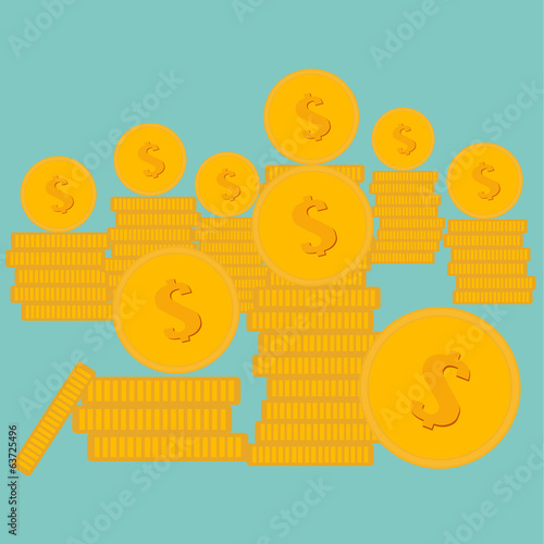 Vector of Gold Coin