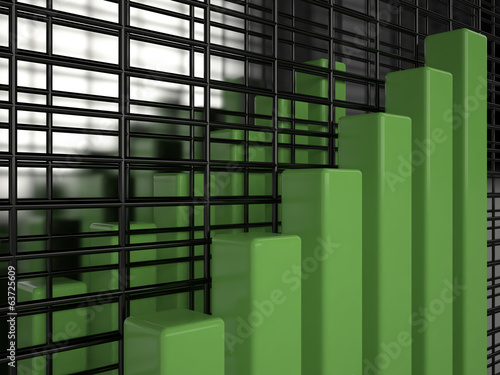 Business graph, 3D