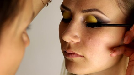 Eyes make up - video of making make up