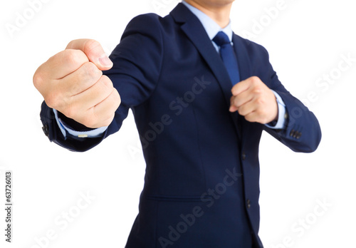 Businessman ready to fight