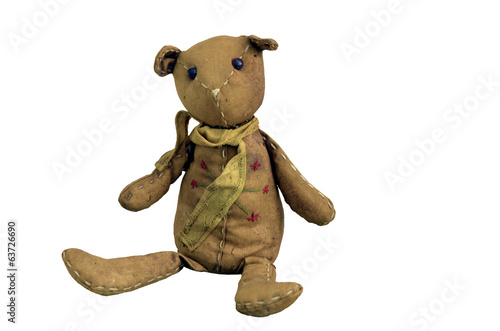 ugly old teddy bear toy