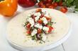 tortilla wrap con verdure e formaggio