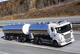 large fuel truck on highway, close -ups - 63726843
