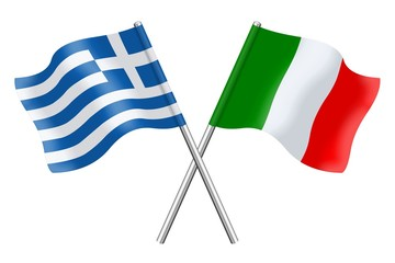 Flags : Italy and Greece