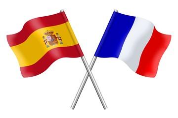 Drapeaux : Duo Espagne, France