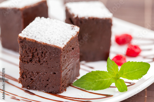 sweet brownies or chocolate fancy cakes