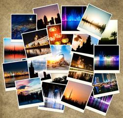 evening views of cities