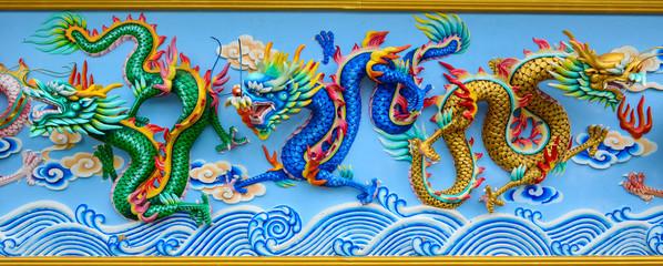 Tipple Dragon Green dragon,Blue dragon,Glod dragon