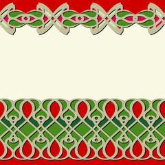 Seamless horizontal texture, ornament in east style