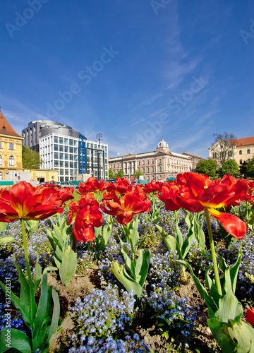 Colorful capital of Croatia Zagreb