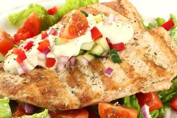 petto di pollo con verdure