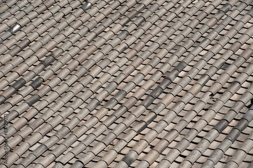 Ceramic on roof texture .