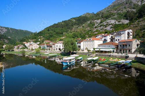 Rijeka Crnojevica Village On The Namesake River, Montenegro