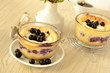 Cottage cheese сasserole with berries,  pudding