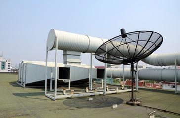 Industrial air conditioner and satellite dish