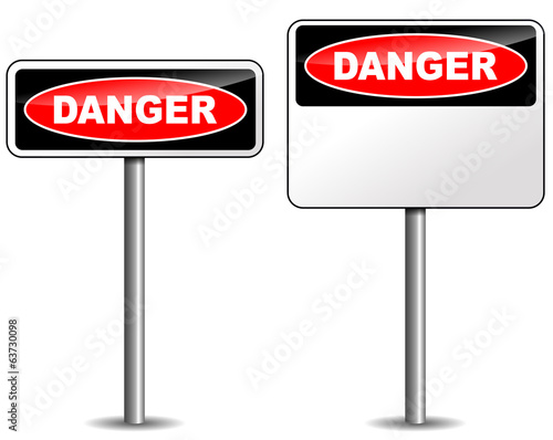 Vector danger signpost