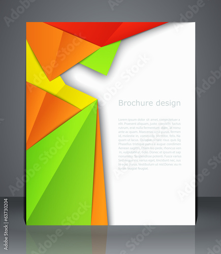 Geometric design brochures magazine cover, flyer, or poster