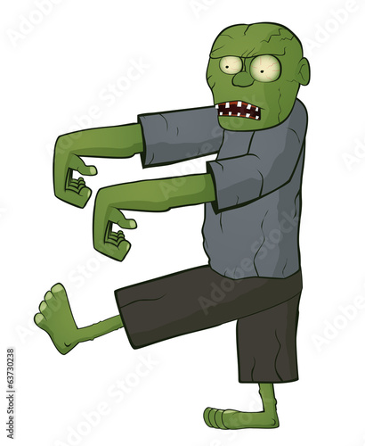 Zombie on white background