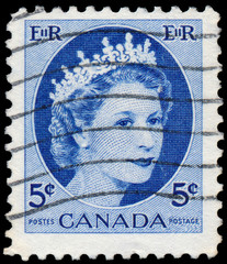 Stamp printed by Canada, shows Queen Elizabeth II