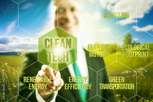 Clean technology business concept