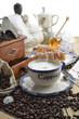 cappuccino colazione fumante verticale vintage