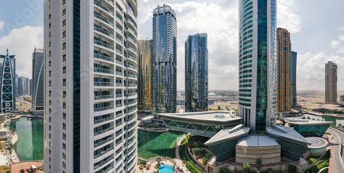 Buildings in Jumeirah Lakes Towers.