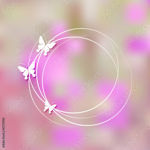pretty background with butterflies