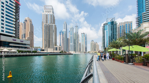 The Walk of Dubai Marina.