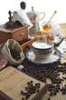 cappuccino caffè composizione vintage verticale