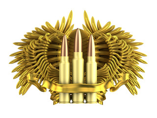 coat of arm with bullet