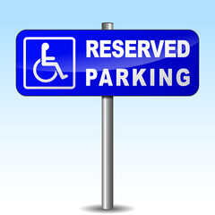 Vector disabled parking sign