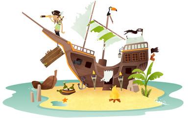 épave bateau pirate
