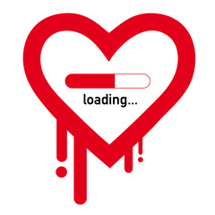 Heartbleed Symbol, loading