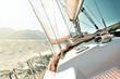 Leinwanddruck Bild - Yacht sailing