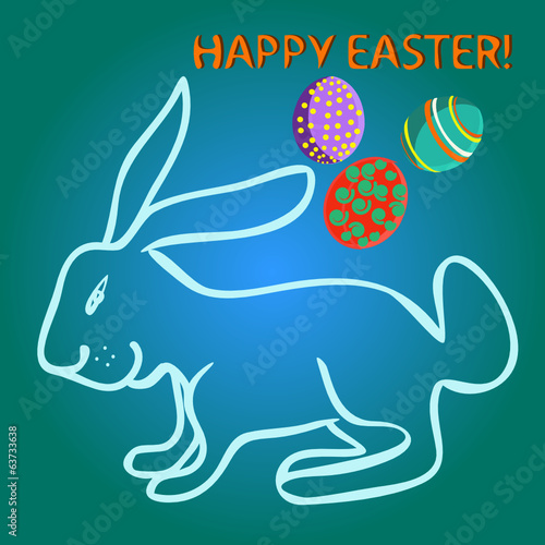 Illustration of easter card