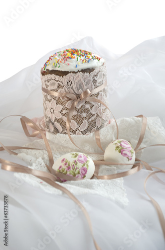 Easter egg cake fabric lace