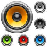 Color audio speakers.