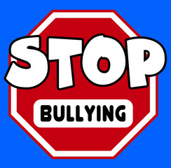 Stop sign with Bullying caption
